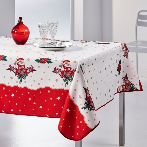 Stain Resistant Tablecloth - Christmas Pere Noel