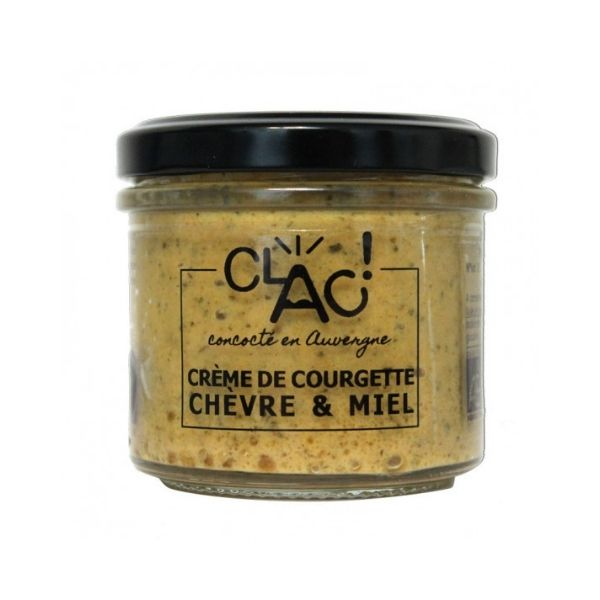 Clac Aperitif: Cream of Courgette, Goat's Cheese and Honey