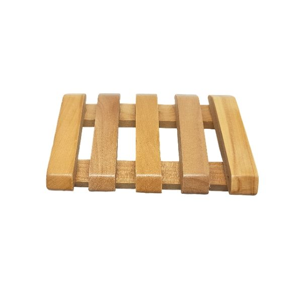 Hemu Wood Soap Dish - Slotted