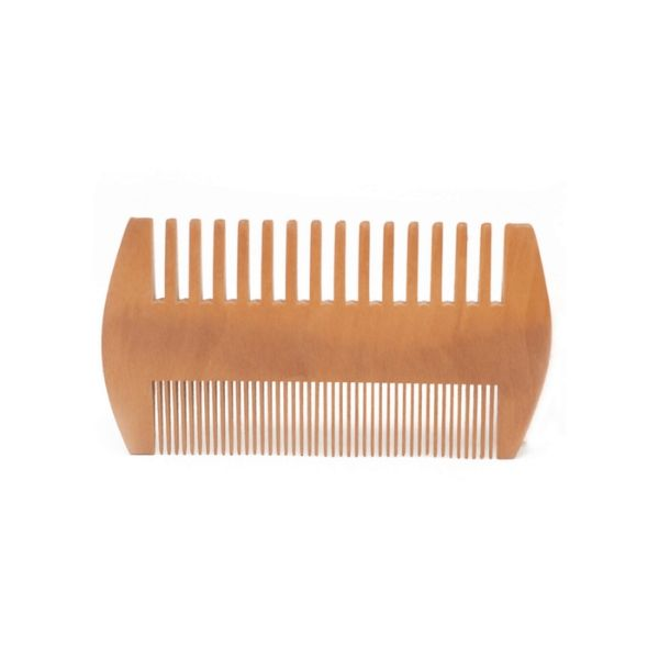 Two-sided Wooden Beard Comb