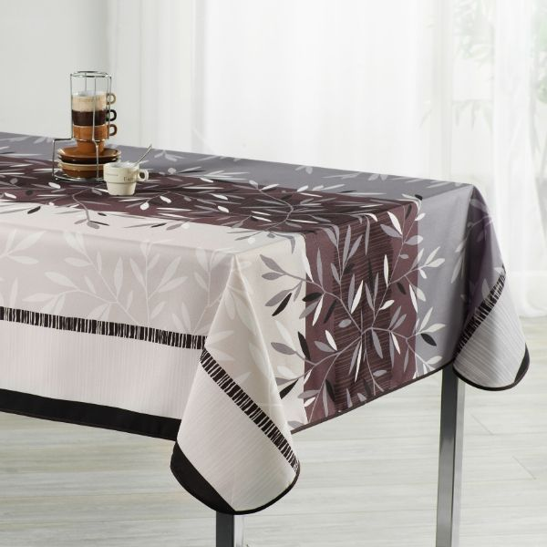 Stain Resistant Tablecloth - Feuilles Chic
