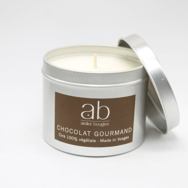 Chocolate Natural Candle In A Tin