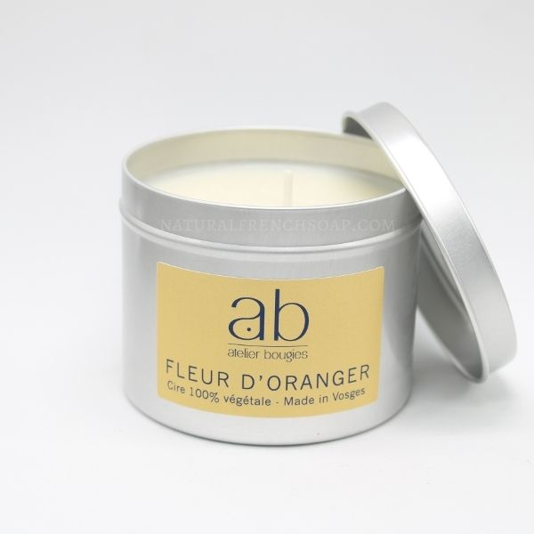Orange Blossom Natural Candle In A Tin