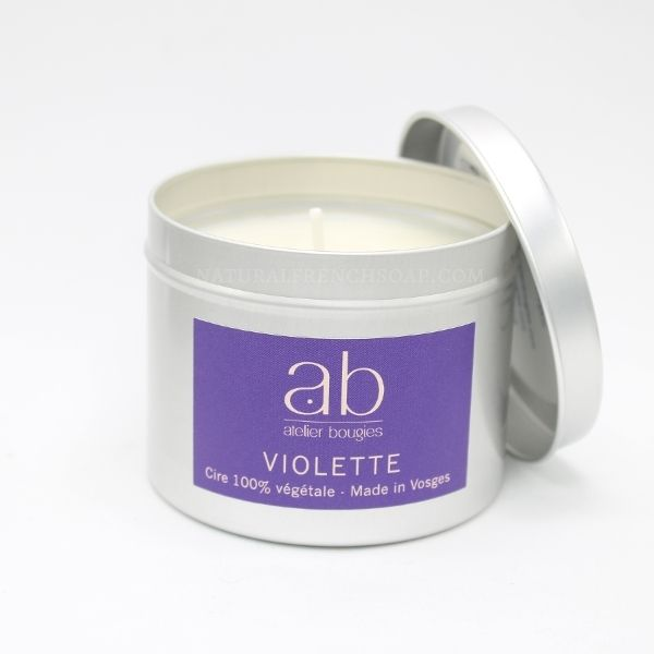 Violet Natural Candle In A Tin