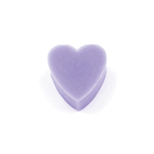30g French Heart Soap - With Lavender Essential Oil