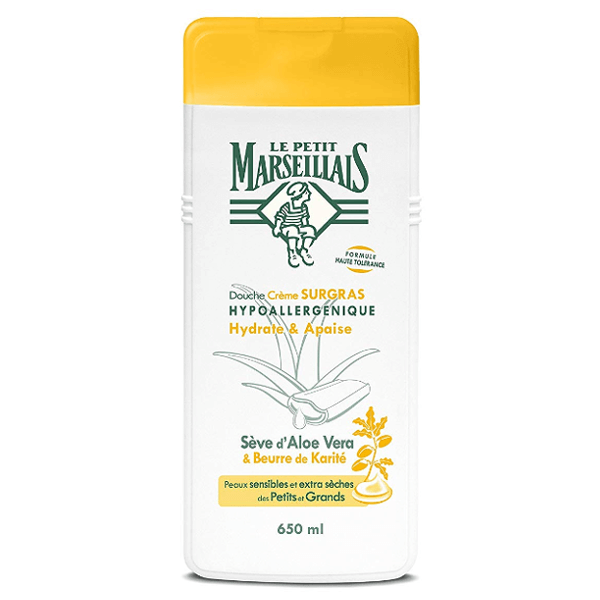 Le Petit Marseillais Shower & Bath Foam Aloe Vera & Beurre de Karite 650ml