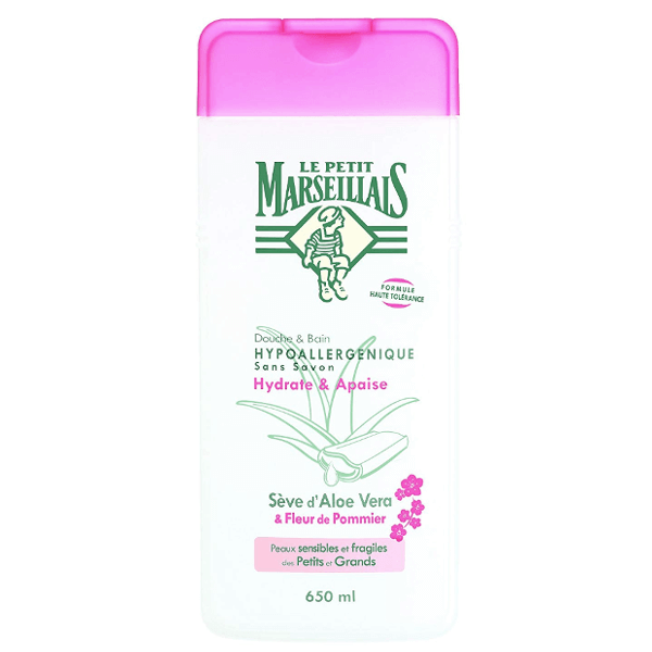 Le Petit Marseillais Shower & Bath Foam Aloe Vera & Fleur de Pommier 650ml