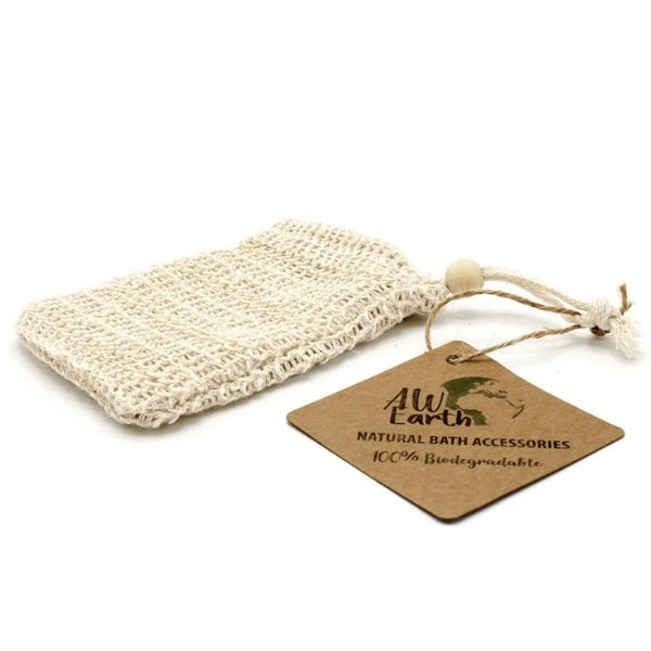 Natural Washed Jute Soap Bag