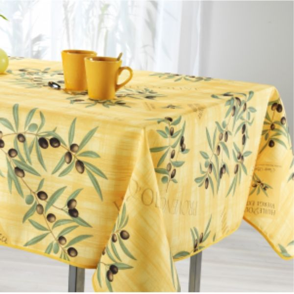 Stain Resistant Tablecloth - Olive Jaune