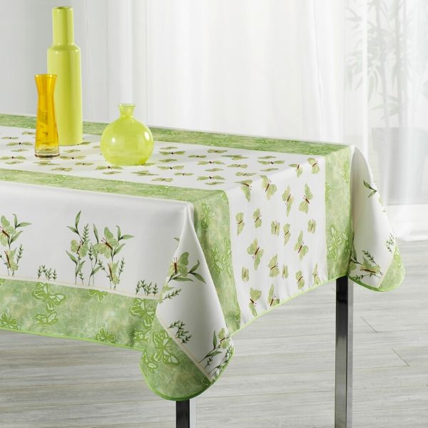 Stain Resistant Tablecloth - Papillon Vert