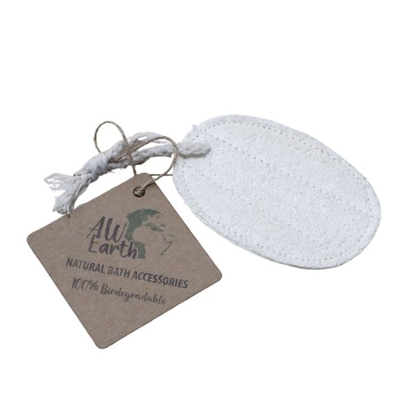 Natural Loofah Body Scrubs - Oval On Rope