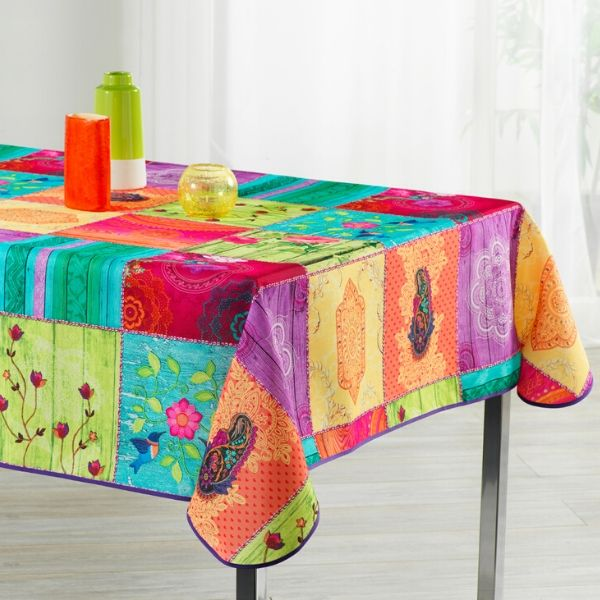Stain Resistant Tablecloth - Patchwork Colore
