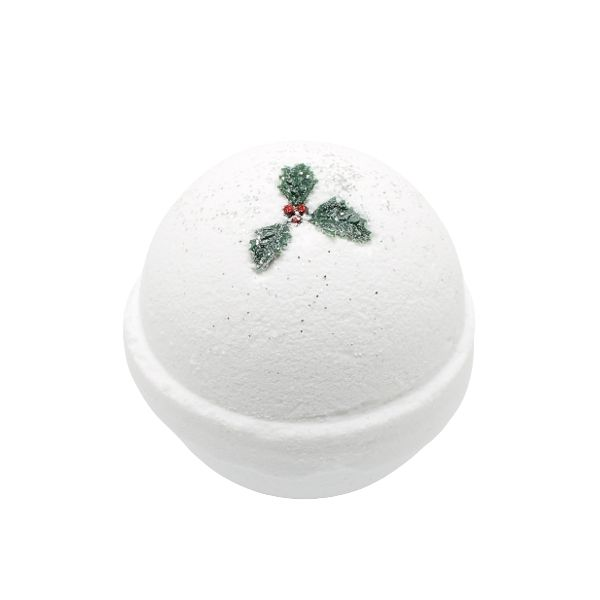 White Christmas Deluxe Bath Bomb: 100% Natural
